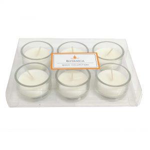 Pacote com 6 velas em vidro