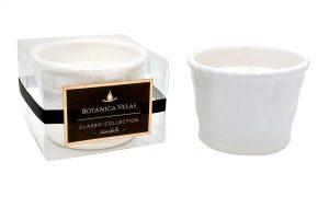 Vela decorativa em cerâmica vaso pequeno – Aroma de sândalo