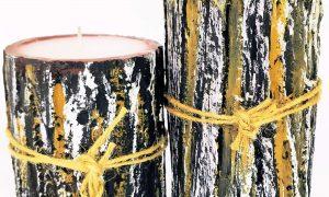 """Vela rústica """"Casca de árvore"""""""