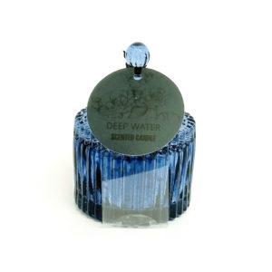 Vela em vidro metalizado formato Baleiro