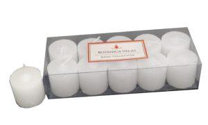 Conjunto de velas pilares brancas