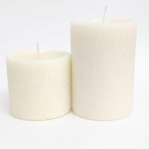 Vela pilar marfim acabamento rústico – Ref. 3076